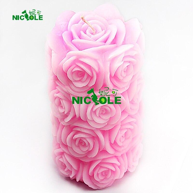 Molde de silicona Nicole para la vela de jabón hecha a mano que hace - Cocina, comedor y bar - foto 1