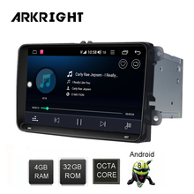 ARKRIGHT 9'' 4+32GB 2 din Car Radio Audio Stereo for Volkswagen VW Seat/skoda Passat B6 Android GPS Navigation Multimedia Player 10 2 32g 2 5d ips android 8 1 car dvd multimedia player gps for volkswagen vw passat b6 b7 2011 2015 radio stereo navigation