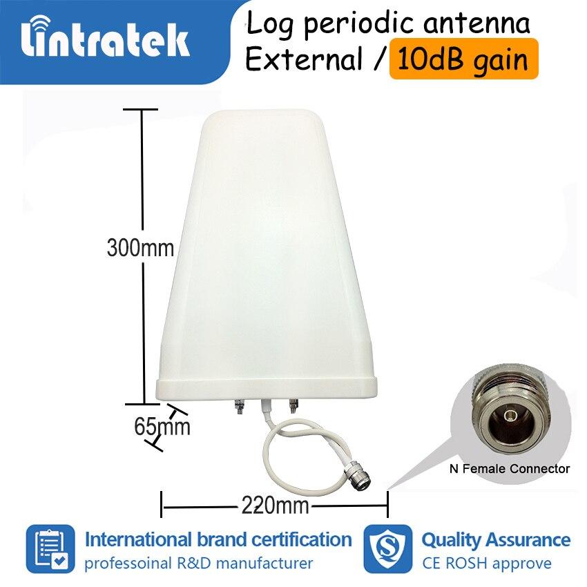 Lintratek 2G 3G 4G Tri bande amplificateur de Signal de téléphone portable GSM W-CDMA LTE 900 1800 2100 mhz amplificateur répétiteur Kit complet S50 - 4