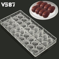 Chocolate Mould 3D Food Grade Clear Polycarbonate Plastic Hard E Gg Thread Shape Kitchen Baking Tools