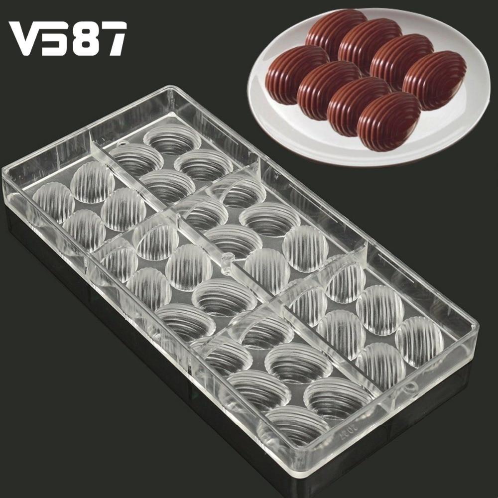 Molde Del Chocolate 3D Pescados Forma de Policarbonato Transparente de Plástico