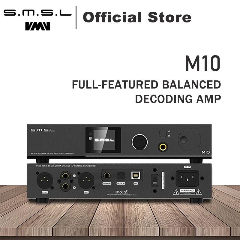 SMSL M10 AK4497 Chip balanced amplificador de auriculares y DAC soporte DSD512 PCM768kHz USB decodificador Digital amplificador de potencia