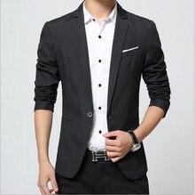 Men's Fashion Slim Fit Blazer Black Blue Terno Masculino Fashion Casual Blazer Hombre Male Blazers For Men Coat Wedding Dress