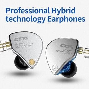 Image 2 - Новинка CCA CA4 1DD + 1BA гибридные наушники вкладыши HIFI DJ спортивный монитор для бега сценический IEM двойной привод Съемный 2 контактный кабель