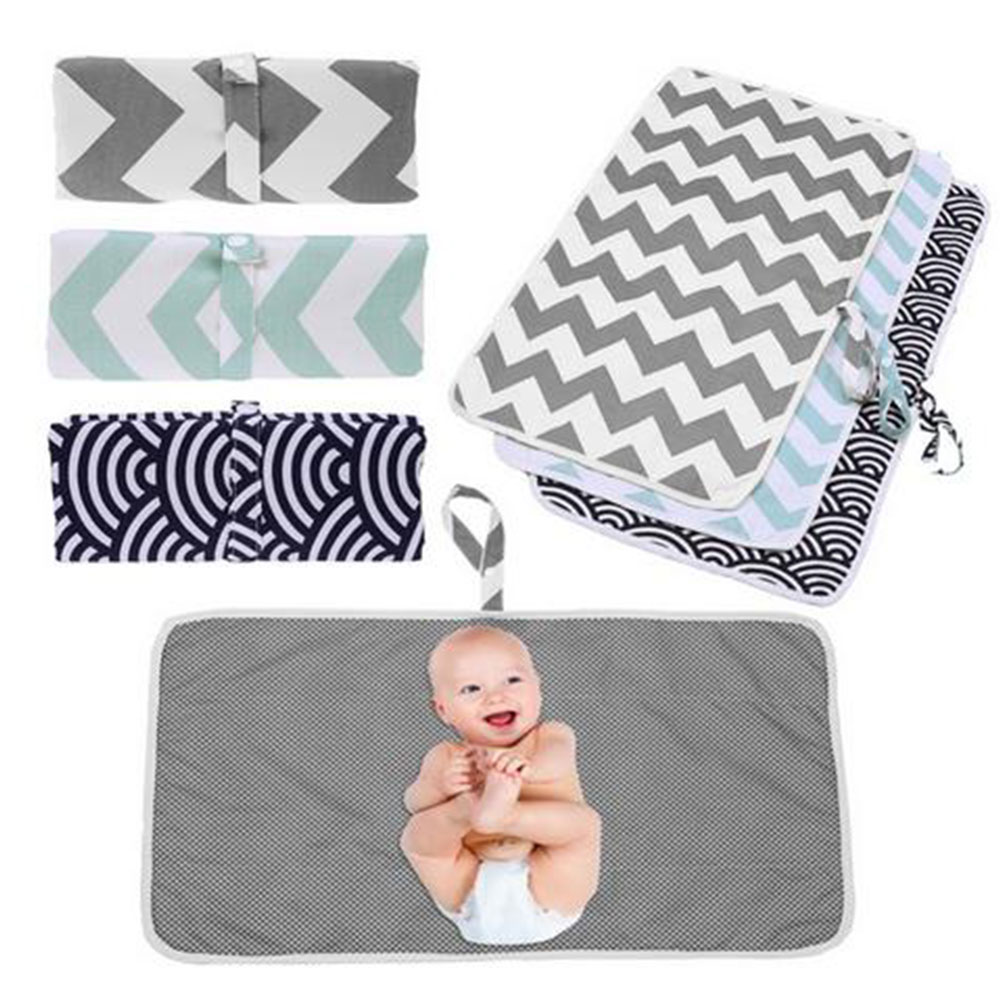 Portable Diaper Changing Pad Foldable Travel Changing Station Stroller Strap,Side Pocket for Wipes Diaper| for Infants /& Newborns Cute Unicorn Waterproof Baby Changing Pad Diaper Bag Mat