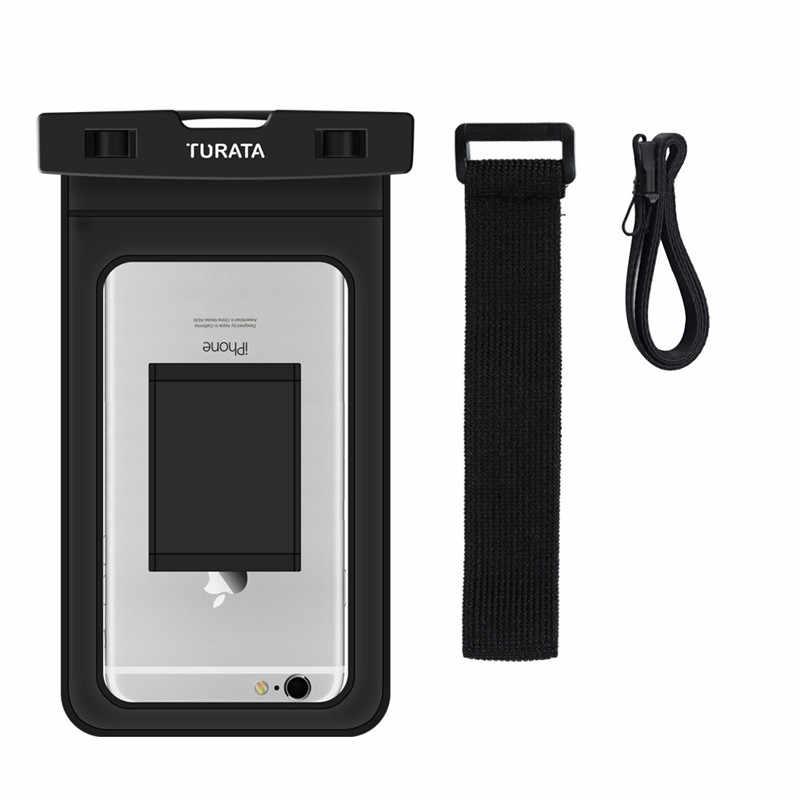 TURATA Universal IP68 Tahan Air Kasus untuk iPhone 7 6 Ditambah Samsung Galaxy S6 S7 Tepi Tas Telepon Kantong Tahan Air untuk Ponsel