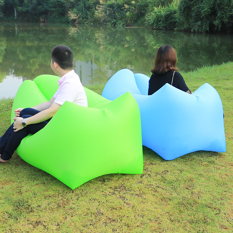 Outdoor Beach Chair Camping Equipment Inflatable Sofa Lazy Bag Air Sofa Bed Inflatable Couch Lounger Bag Sleeping Bag Bean Bag