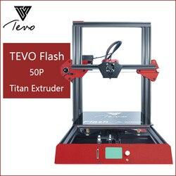 TEVO Flash 3d Принтер Комплект принтер 3d печать полностью алюминиевый каркас печатная машина Стабильная и быстрая с Titan экструдер 50P 50%