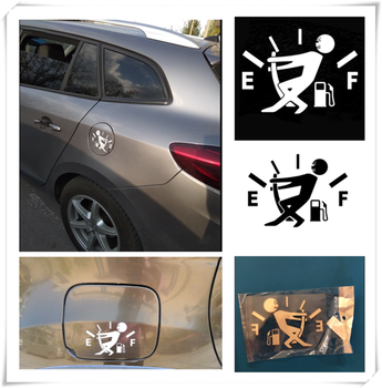 10CM * 14CM car styling fuel tank cap logo sticker decal funny for Volkswagen vw 07 EOS 2.0 TF Phaeton 6.0 EOS 2.0 FS Touareg image