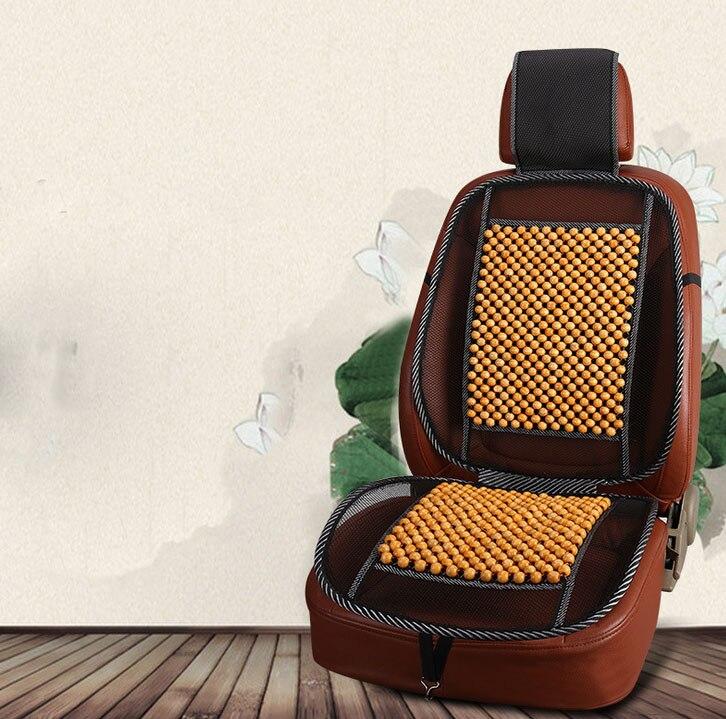 Car Massage Cushionwooden bead cushion car auto supplies car seat cover natural car wooden bead cushion car summer maple wooden bead seat cushion summer mat back massage pad single seat cover