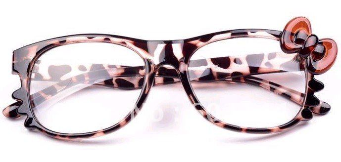4571267f2 Free Ship 20 Pieces Fashion Hello Kitty Glasses Frame With Bow Women  Accessories Eyeglasses Eye Frame No Lens-in Women's Eyewear Frames from  Apparel ...