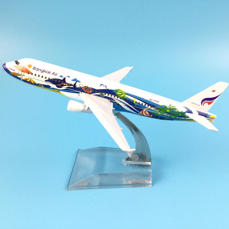 FREE SHIPPING 16CM A320 BANGKOK AIRWAYS  METAL ALLOY MODEL PLANE AIRCRAFT MODEL  TOY AIRPLANE BIRTHDAY GIFT
