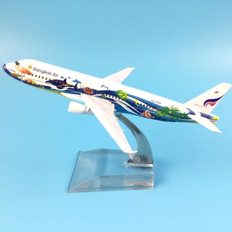 FREE SHIPPING 16CM A320 BANGKOK AIRWAYS  METAL ALLOY MODEL PLANE AIRCRAFT MODEL  TOY AIRPLANE BIRTHDAY GIFT