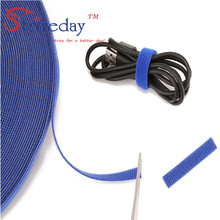 25 Meters/roll magic tape nylon cable ties Width 1.5cm wire management cable ties DIY 6 colors to choose from недорого