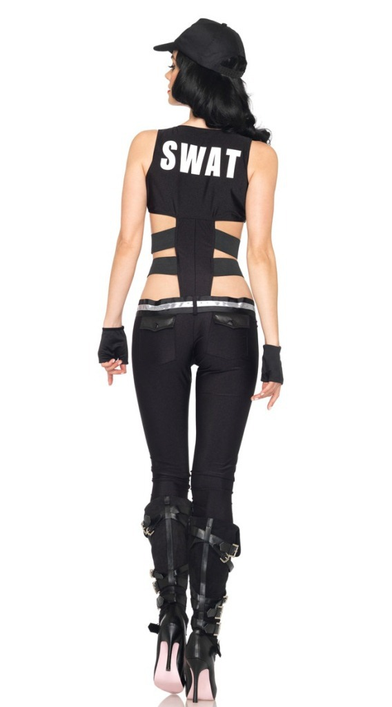 Hot Sexy Black Police Cop Cosplay Costumes Wholesale SWAT Sniper Halloween Costume Uniform Sexy Secret Service Female Costume-in Sexy Costumes from Novelty ...  sc 1 st  AliExpress.com & Hot Sexy Black Police Cop Cosplay Costumes Wholesale SWAT Sniper ...