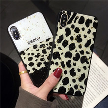 RKQ Retro Leopard Pattern Soft TPU Back Phone Case Cover For Iphone 6 6S 7 8 Plus X XS XR Max