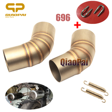 Refit Motorcycle Exhaust Link Pipe Connect Middle Ship on Adapter Mid Tube Escape for Ducati Monster 696 796 Exhaust Accessories