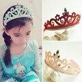Crianças Cocar Menina a Coroa Da Princesa Elsa Anna Cosplay Meninas Tiaras Coroas Acessórios Para o Cabelo Do Bebê para a Festa de Natal do Dia Das Bruxas