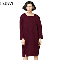 Wholesale Korean Autumn Winter Women Sweater Dress 2018 Large Plus Size Clothing Thin Dresses ukraine Knitting Bobe vestidos