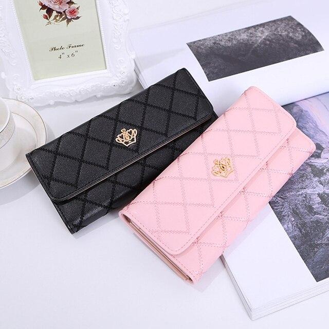 Moda mujer cartera mujer monedero cremallera monedero moda Mini mujeres bolsos Multi tarjeta titular teléfono caso Clip bolsillo 2019