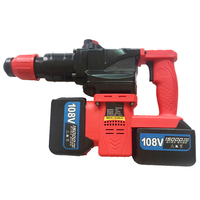 Rechargeable Lithium Battery Electric Hammer Drill 68/88/108V 1280w 800r/min Cordless Electric Impact Drill
