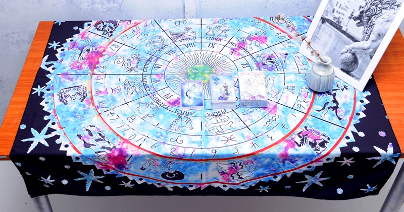 100cmX100cm Tarot Card Divination Tablecloth For Classic game Witt Flower Shadow Tarot Divination Props Astrological Tablecloths