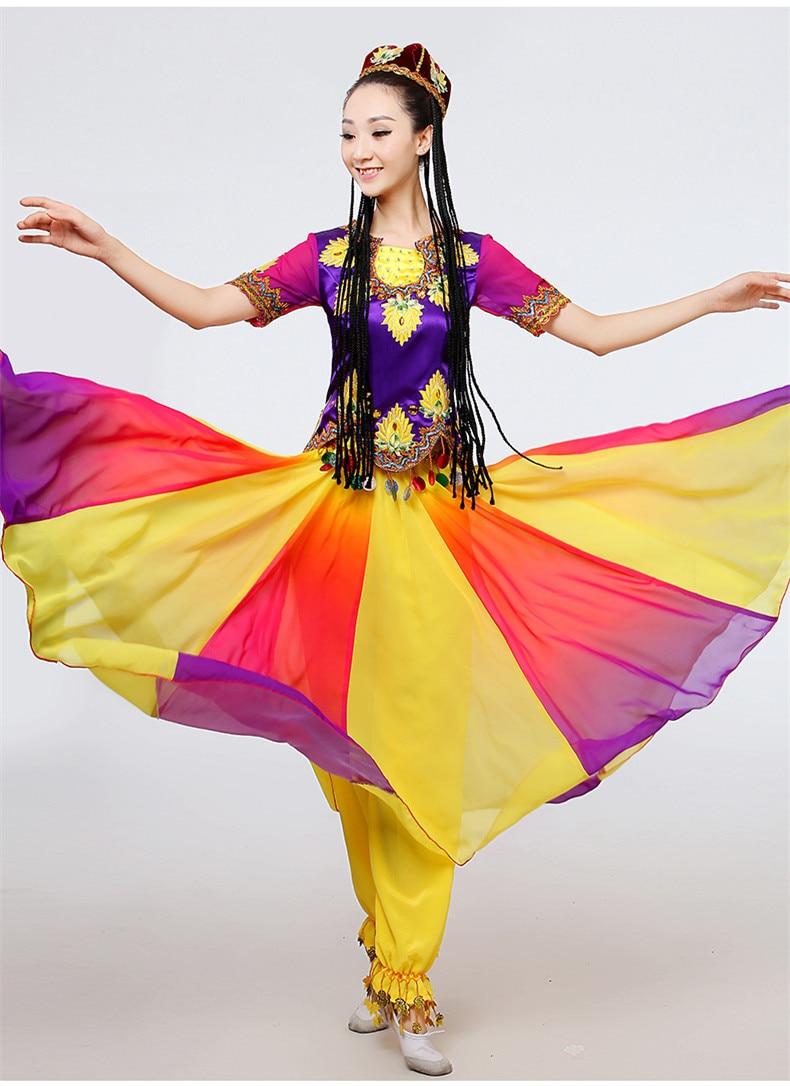 New big swing Xinjiang Uighur Ethnic Dance solo stage performance minority dance