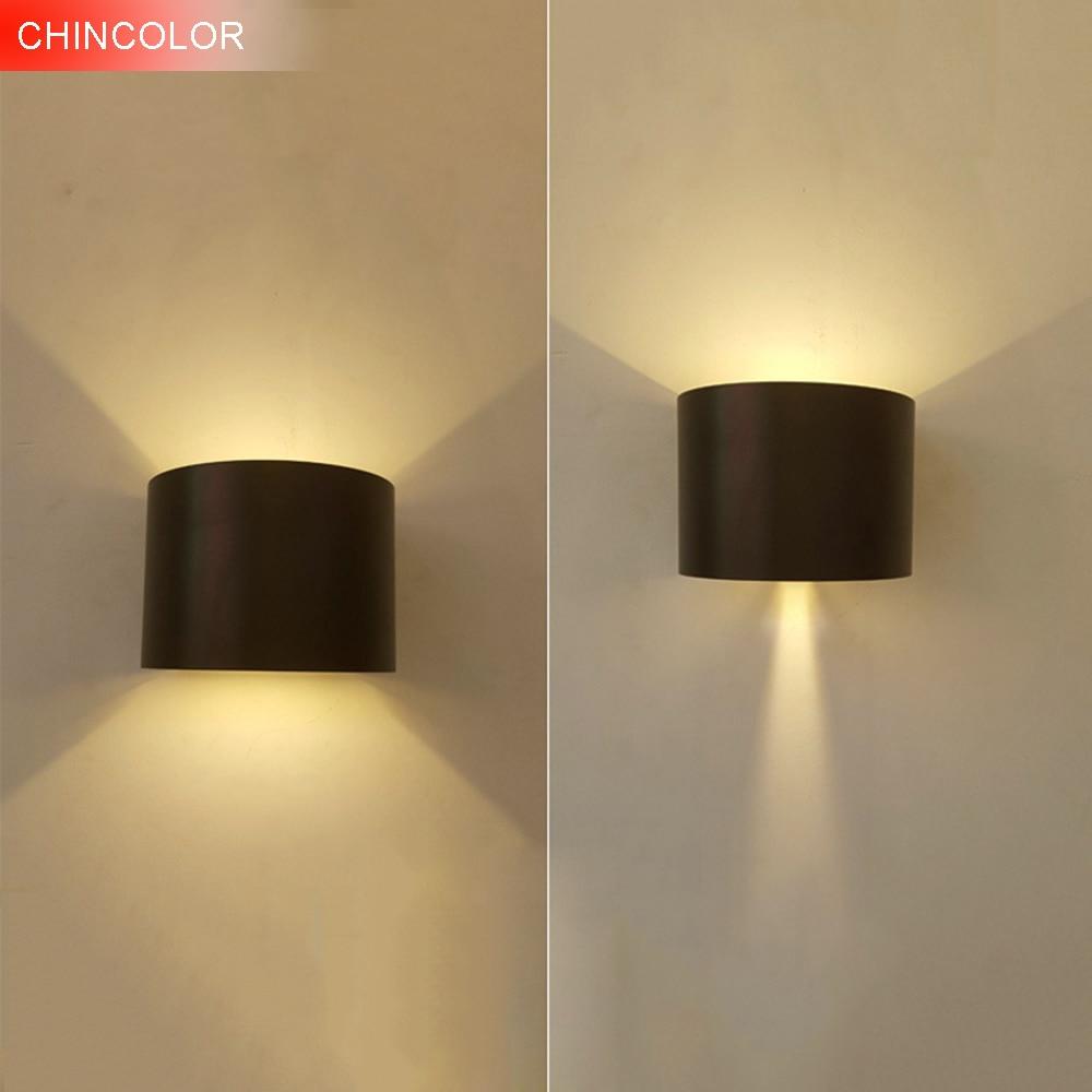 CHINCOLOR IP65 Waterdichte Dimbare Wandlamp 6 W COB Aluminium Op en - Binnenverlichting