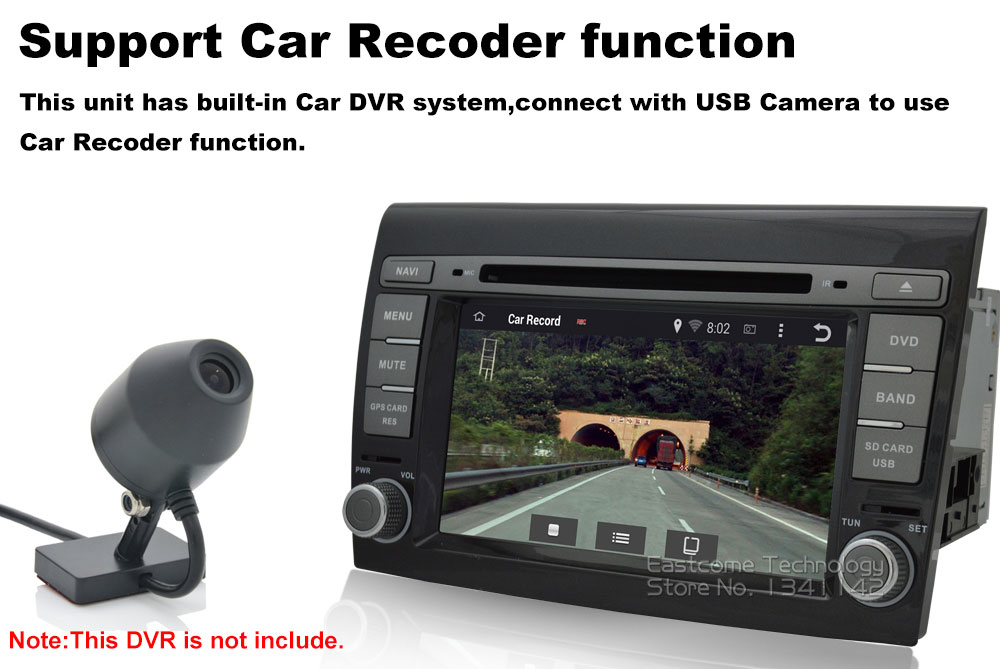 Cheap 1024*600 8 Cores Octa Core Pure Android 6.01 Car DVD Player For Fiat Bravo 2007 2008 2009 2010 2011 2012 With Rear View Camera 11