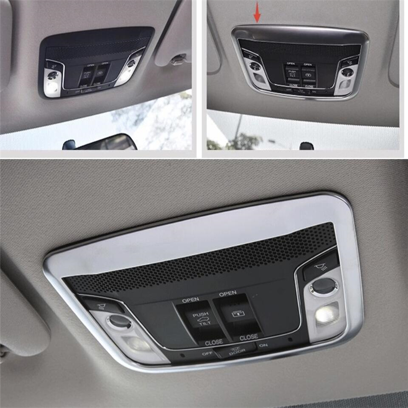 2 Model For Choice For Honda Vezel Hr-v 2014 2015 2016 2017 Price Remains Stable Kind-Hearted Lapetus Chrome Reading Lights Lamp Cover Trim Auto Accessories