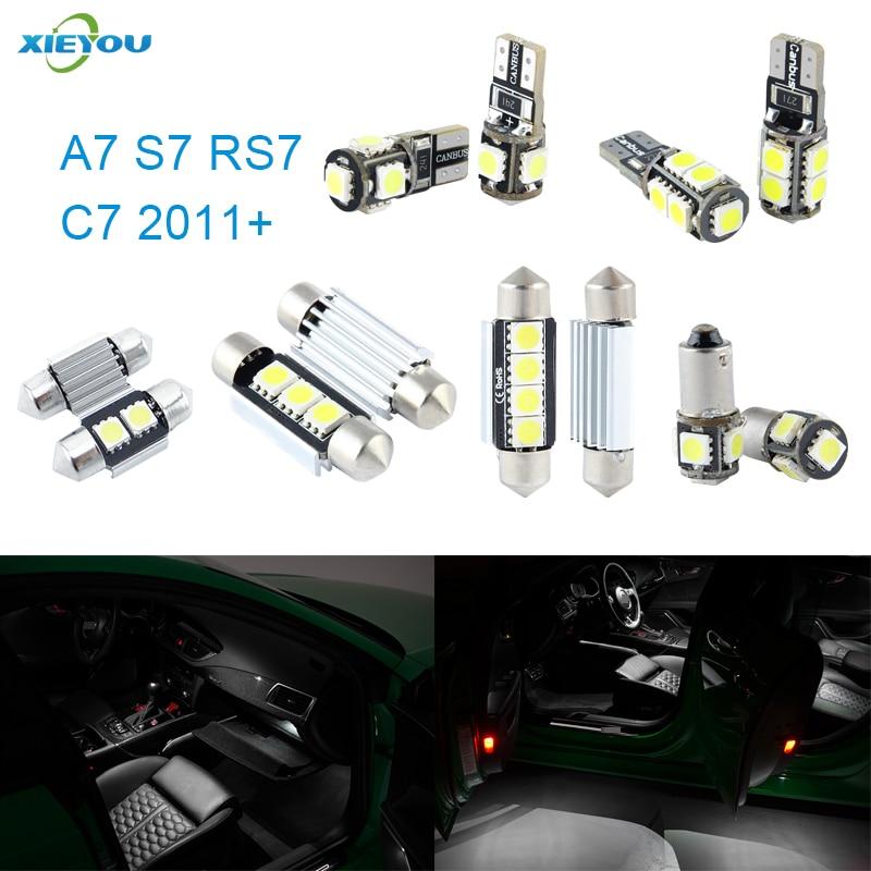 XIEYOU 13 ədəd LED Canbus Daxili işıqlar dəsti A7 S7 RS7 C7 - Avtomobil işıqları - Fotoqrafiya 1