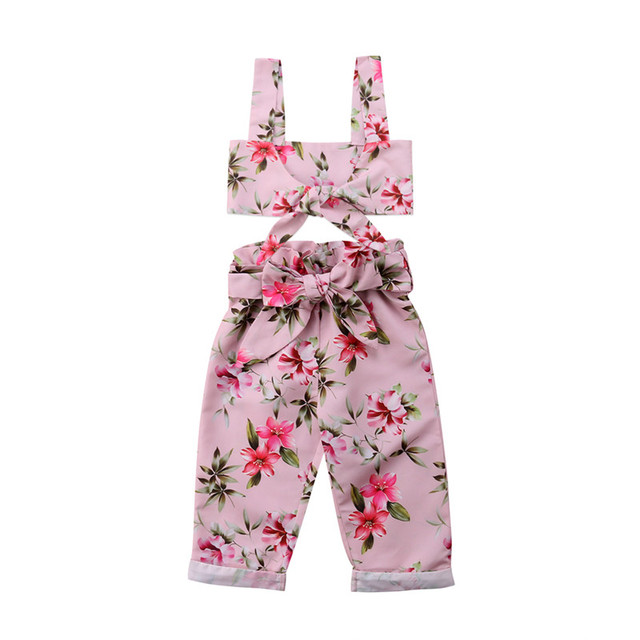 7a8c76a2b Baby Clothing 2pcs Newborn Baby Girls Clothes Square Collar Vest ...