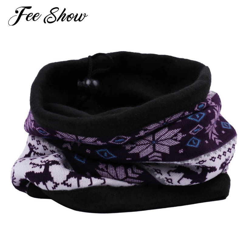 Unisex Men Women Reversible Neck Warmer with Drawstring Gaiter Scarf Mask Beanie Soft and Comfortable Fashion Neck Warmer Scarve
