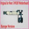 Boa qualidade, 32 gb versão europa, desbloqueado original para samsung galaxy note 5 n920f motherboard com batatas fritas por frete grátis