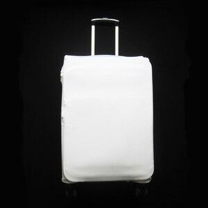 Простой чехол для чемодана белого цвета, плотный эластичный защитный чехол для чемодана 18, 20, 22, 24, 26, 28, 30, 32 дюйма, Дорожный Чехол