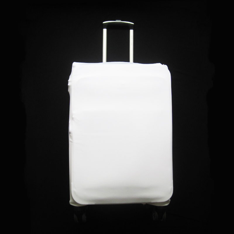 Plain White color Suitcase Cover Thick Elastic Luggage Protective Cover For 18 <font><b>20</b></font> 22 <font><b>24</b></font> 26 28 30 32 inch Trunk Case Travel image