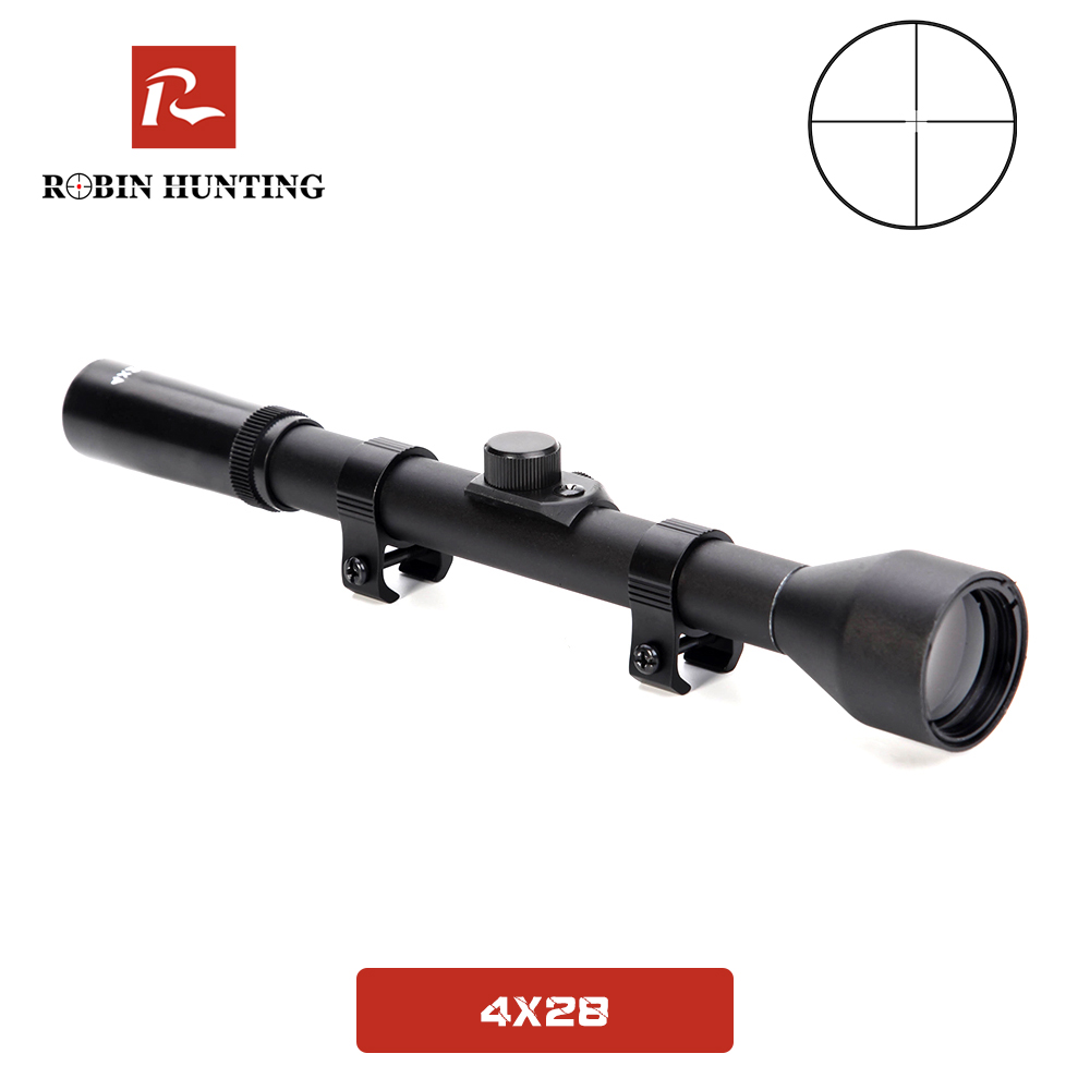 4x28 Tratical Game Scopes Hunting Optical Sight Rifle Scope Fits 11MM/20MM Rail Mount For Airsoft Air Gun Outdoor Hunt Scope