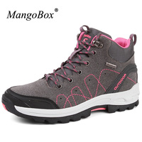 Mangobox Hiking Boots Women New Arrival Mens Mountaineering Boots High Top Winter Outdoor Shoes Women Shoes