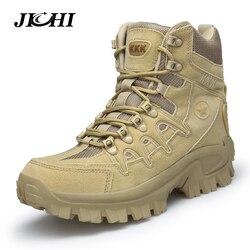 Tamanho grande 39-46 deserto tático botas dos homens desgastar-oposição botas do exército homens à prova dwaterproof água ao ar livre caminhadas homens combate tornozelo botas