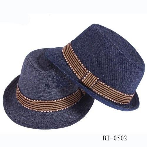 Children Denim Fedora Hat Kids Spring Denim Jazz Cap Baby Acting Cap Kid  Cowboy Hat Baby Top Hat Fedoras 10pcs lot Free Shipping 5a2d8c76dce