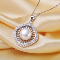 925 Sterling Silver AAAA Natural Pink Purple White 10 11mm Freshwater Pearl Necklaces Gift For Girl