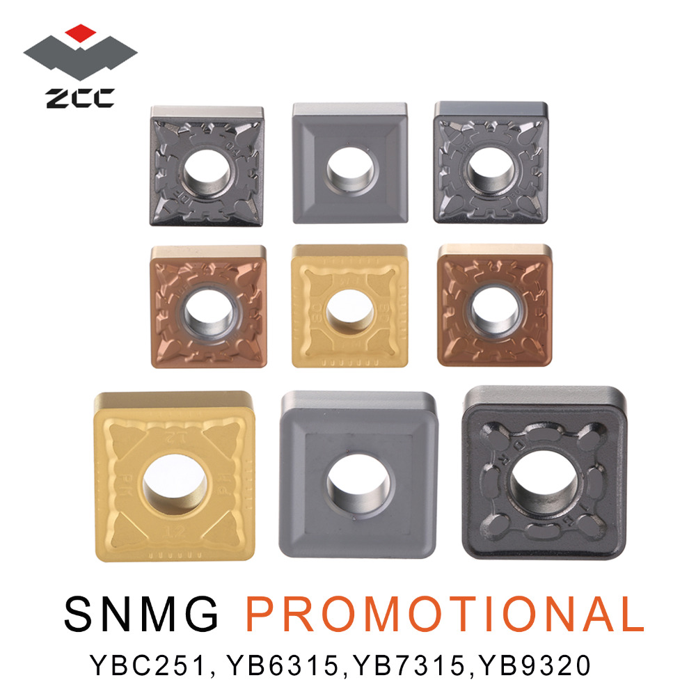 10pcs/lot Promotional Cemented Carbide Inserts SNMG SNMG120408 12 SNMG150616 For Steel Cast Iron  ZCC Original Cnc Lathe Tools