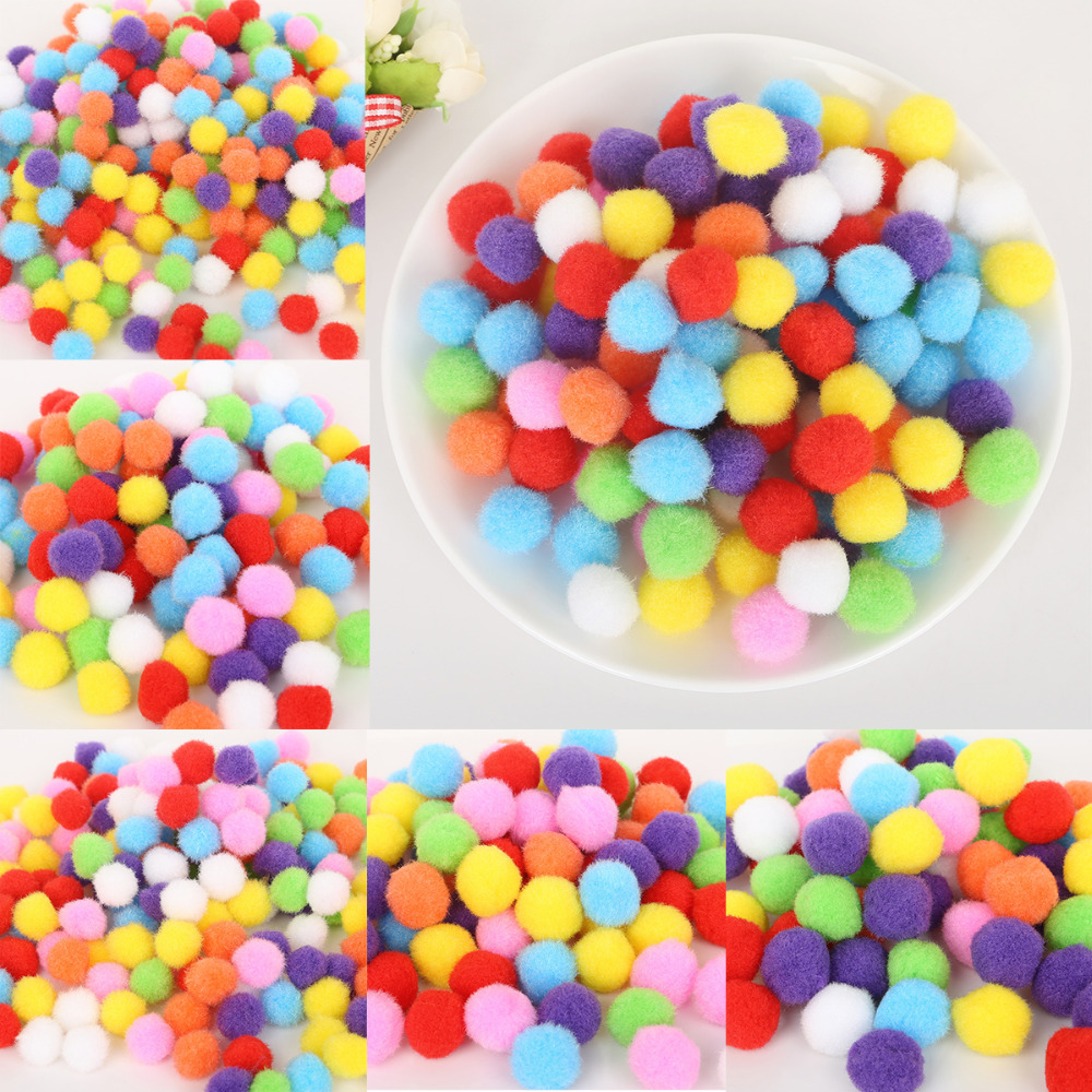10mm /& 15mm Pompoms Many Colours Mini Pom Poms Card Making Arts And Crafts Kids