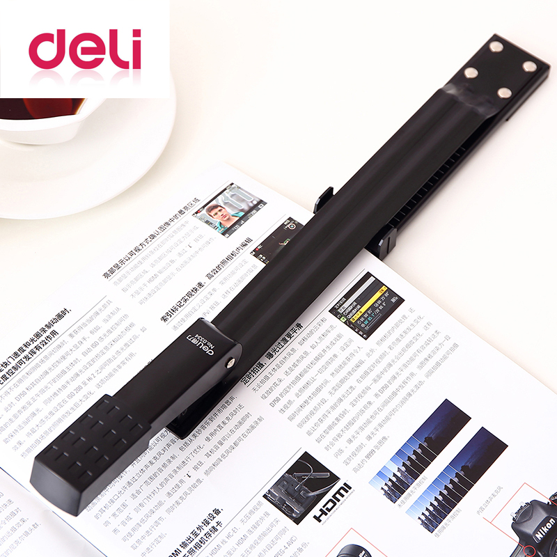 Deli Long Arm Stapler 0334 Metal Special A3 Sewing Machine Staple Lengthening Stapler Paper Stapling Office Stapler Bookbinding