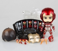 De Avengers Leuke Nendoroid Q Iron Man Mark 42 Tony Stark 15 CM PVC Action Figure Collection Model Speelgoed