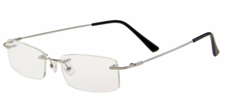 af6a99f995 Eyesilove memory titanium glasses frame Flexible Memory Metal Rimless Eyeglasses  Frame for oculos de grau Glasses Optical Frame.