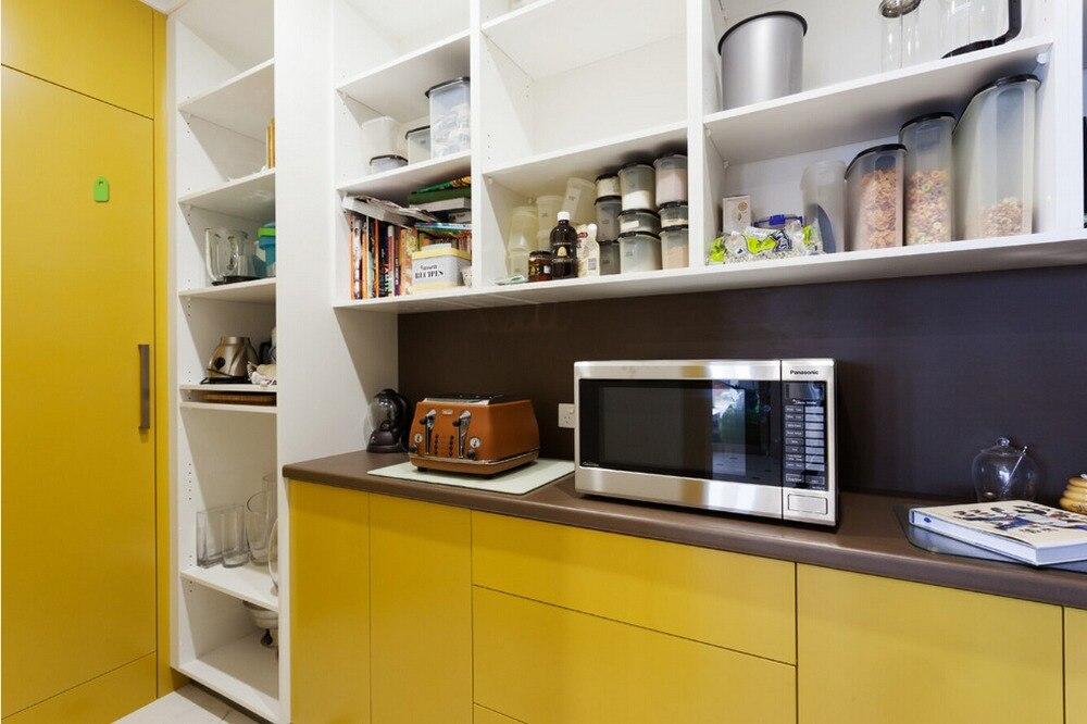 2017 venta caliente 2pac gabinetes de cocina de color for Muebles de cocina amarillos