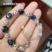 KJJEAXCMY Fine jewelry Natural sapphire female bracelet, inlaid wholesale, S925 silver, pure silver
