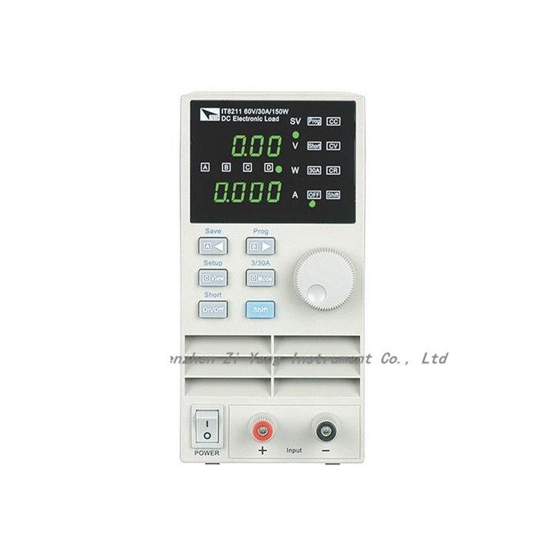 High Resolution 1mV/1mA DC Electronic Load 0-60V/30A/150W AC110-220V IT8211 цена и фото