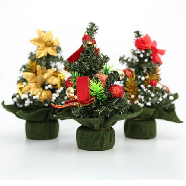 pvc mini christmas decorations christmas trees christmas decorations fine decorations small trees decorations 20x18cm - Mini Christmas Tree Decorations